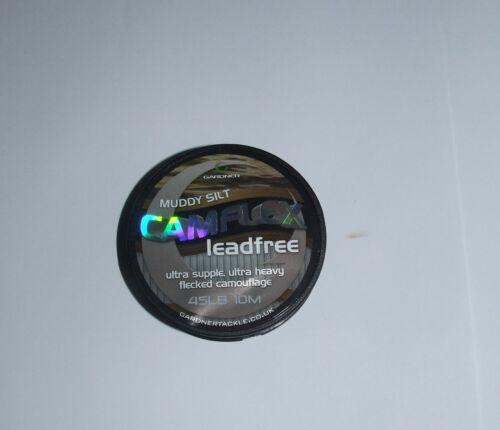 Gardner Camflex plomb leader Muddy Limon 45 Lb environ 20.41 kg Bobine 10mtr-Carp Coarse
