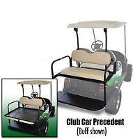 Club Car Precedent Golf Cart Rear Flip Seat Kit (2004+) White Seat Cushions