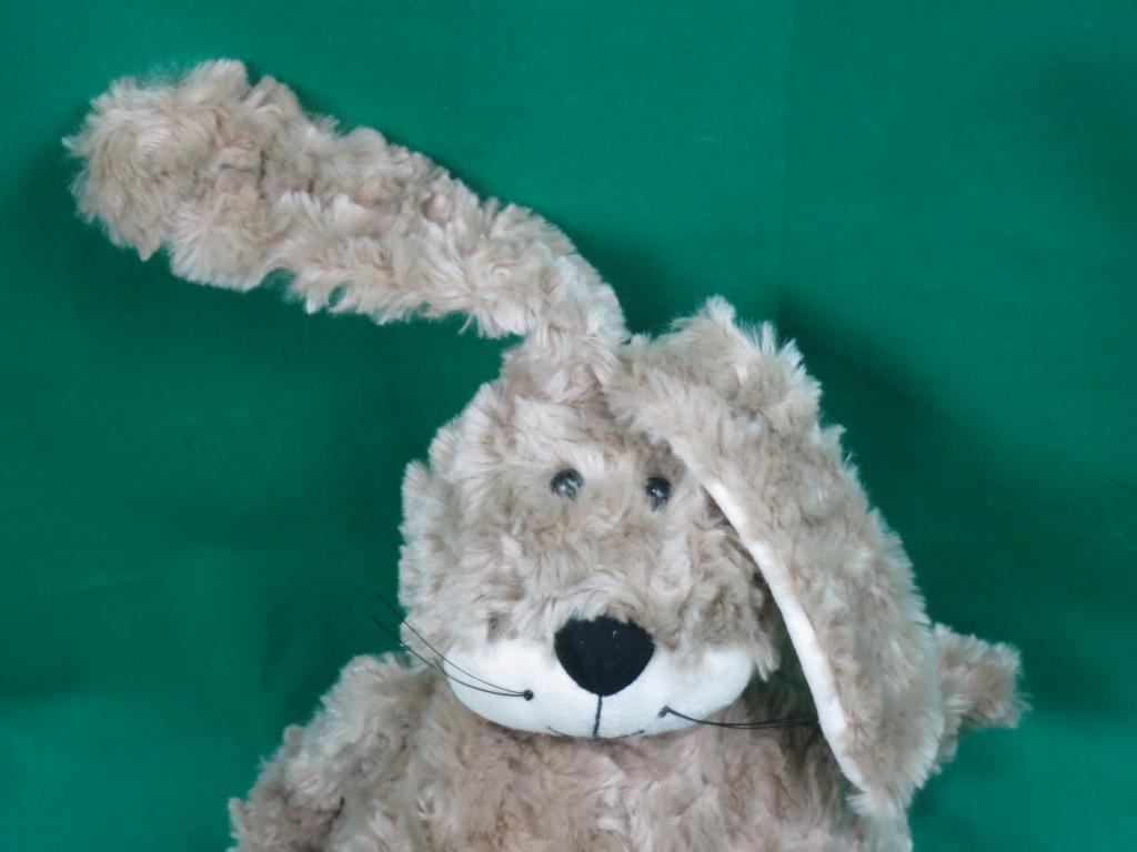 JELLYCAT RABBIT braun BUNNY SUEDE EARS FACE FLUFFY POTBELLY PLUSH STUFFED EASTER