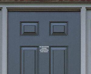 Image Is Loading No Soliciting Sign Vinyl Decal Sticker Door Window