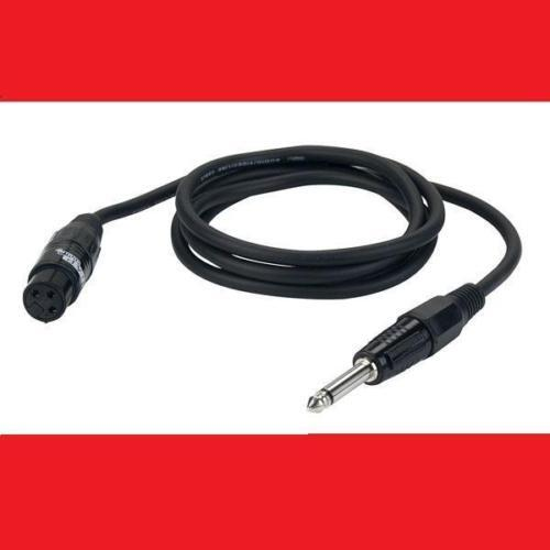 3 m Mikrofonkabel XLR female auf 6,3 mm Klinke mono Mikrokabel stabil 3m