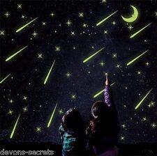 Wall decal stickers kids girls boys star moon night  glow in dark playroom DC34
