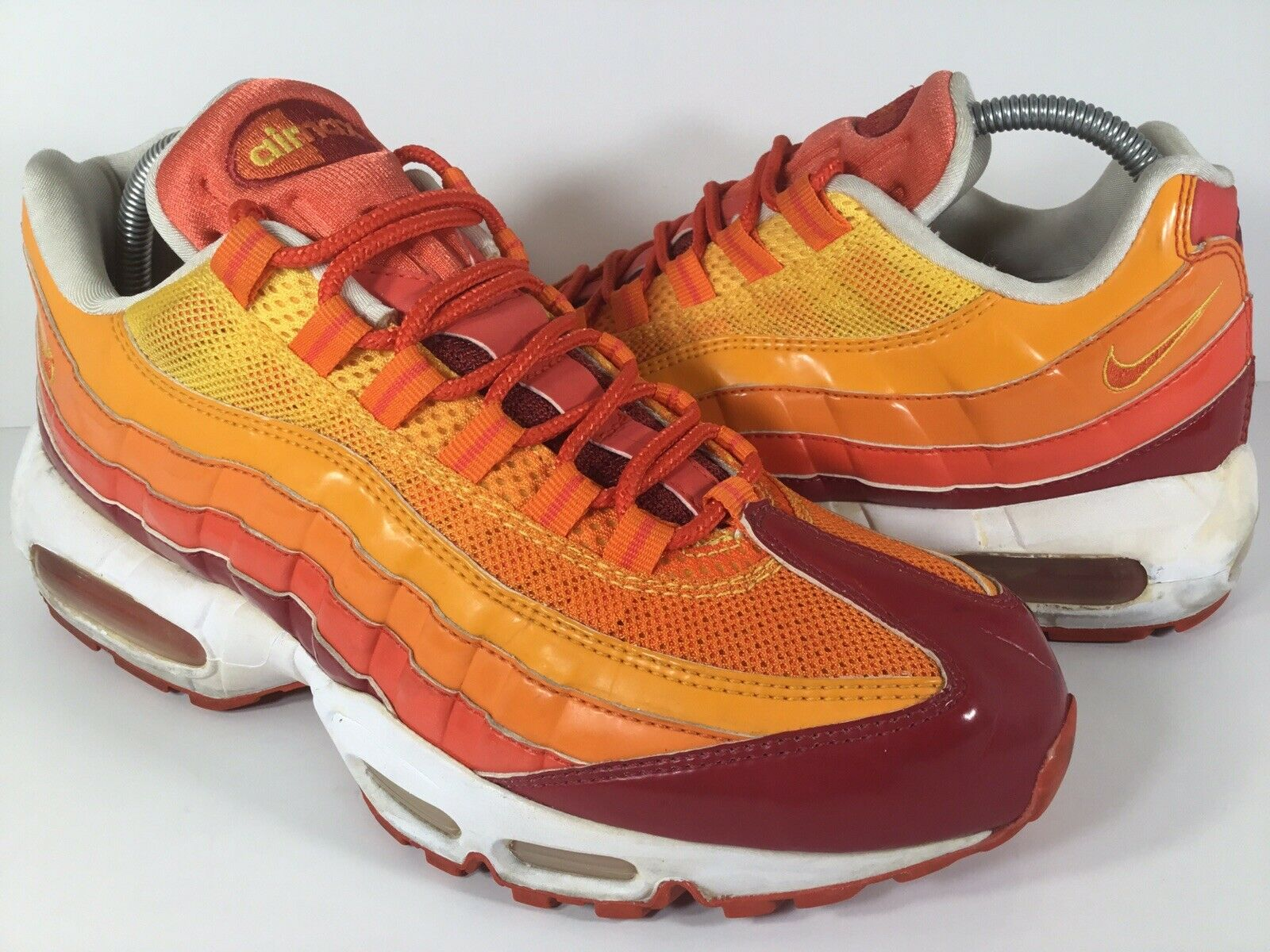 Nike Air Max 95 Human Torch orange Yellow Red White Size 8.5 Rare 609048-681