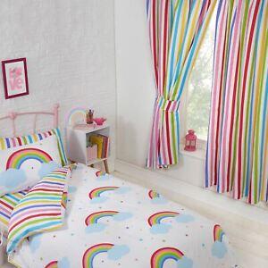 Arc-En-Ciel-Ciel-Raye-Doublure-Rideaux-54-034-137cm-Goutte-Enfants-Bonbon-Colore