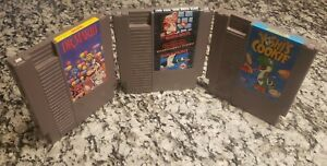 NES-3-Game-Lot-Mario-Bros-Duck-Hunt-Dr-Mario-Yoshi-039-s-Cookie-Cartridges-Only