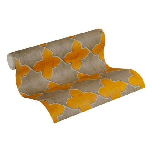 AS Creation New Walls Moroccan Tiles Yellow Wallpaper 37421-2 Paste the Wall