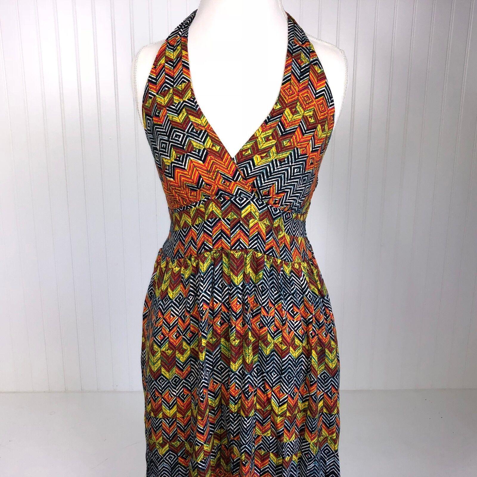 NWT Anthropologie Ella Moss Boho Chevron Maxi Dress S Boho B70