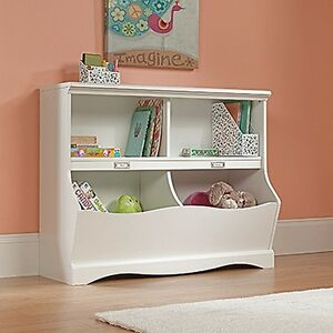 Sauder-414436-Pogo-Bookcase-footboard-Soft-White-Finish-NEW