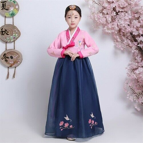 Traditional Korean Clothing Hanbok Embroidery Ancient Dance Costume Performance