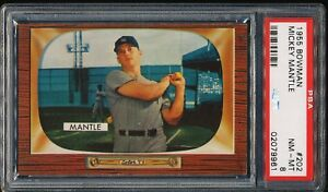 MICKEY-MANTLE-1955-BOWMAN-YANKEES-CARD-202-PSA-8-CENTERED
