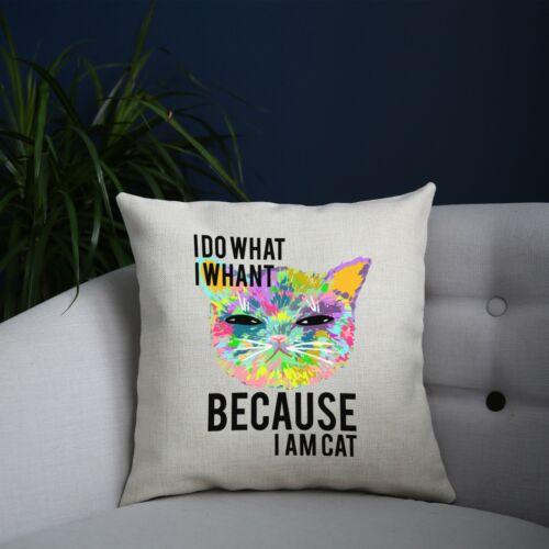 Cat coloring illustration abstract design cushion cover pillowcase linen home de