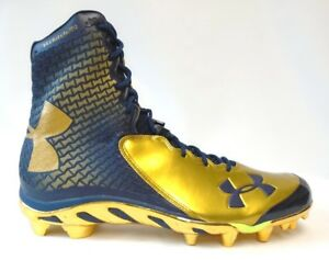 rock-bottom price superior materials discount coupon Details about Under Armour Team Spine Brawler Navy and Gold Football Cleats  - Size 15