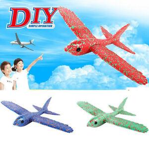 DIY-Foam-Throwing-Glider-Airplane-Inertia-Aircraft-Toy-Hand-Launch-Bird-Model