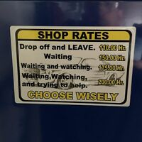 Shop Rates Overlay Decal Mac Box Cart Socket Balancer Sears