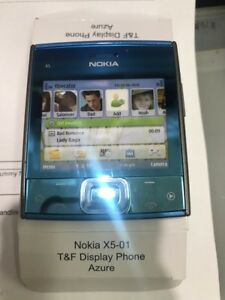 **High Quality** Dummy NOKIA X5-01 Display toy model Azure blue