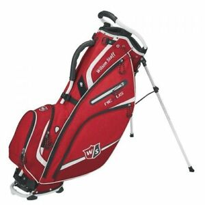 Wilson-Staff-Nexus-III-Stand-Bag-Mens-Golf-Carry-Bag-5-Way-Divider-Red-White