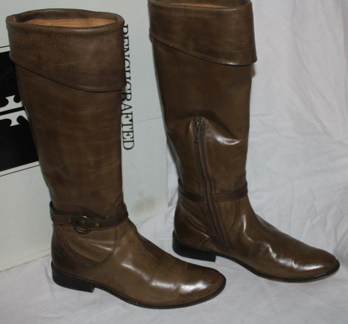 FRYE SHIRLEY CUFFED RIDING BOOT FAWN us 498