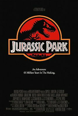 JURASSIC PARK 1993 Red Advance Teaser SS One Sheet Movie Poster Steven Spielberg