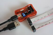 USB ISP-Programmer mit 6 + 10 Pol Adapter für ATMEL AVR, STK500, ATmega, ATtiny,