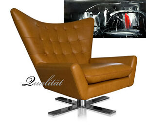 Pivotant Cuir Bergere Chaise De Salon Fauteuil