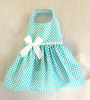 Xxxs Spring Aqua Dot Dog Dress Clothes Teacup Pet Apparel Teacup Pc Dog®