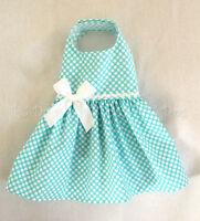 M Spring Aqua Dot Dog Dress Clothes Teacup Pet Apparel Medium Pc Dog®