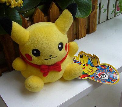 New Pokemon 10Th Anniversary #025 Pikachu Plush Figure Doll Toy RARE Lovely