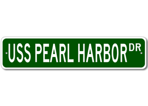 USS-PEARL-HARBOR-LSD-52-Ship-Navy-Sailor-Metal-Street-Sign-Aluminum