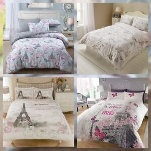 Image Is Loading Paris Themed Bedding Duvet Cover Sets Butterflies Floral