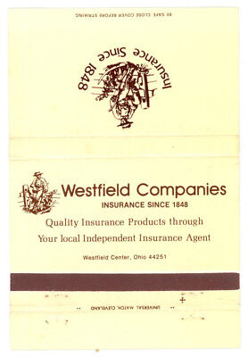 Match Book Cover Westfield Companies Insurance Headquaters ...