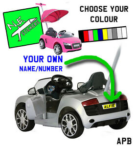 Personalised Kids Number Plate License Fits Audi R PUSHBUGGY Ride - Audi car number