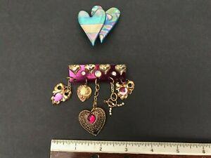 Vintage Bijoux Pièces Broche Pin Handcrafted Goldtone one of a kind Valentine