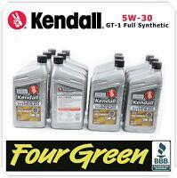 Kendall Motor Oil 5w30 Gt-1 Full Synthetic Liquid Titanium 12 Qrts Case