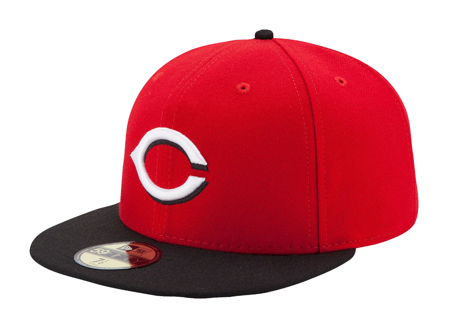 New Era Reds 59Fifty MLB Cap Cincinnati Reds Era AC On Field Fitted Road Hat 4a93c4