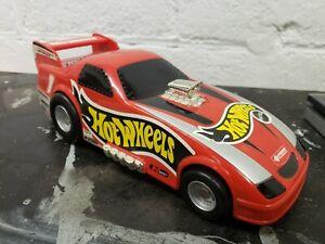MATTEL-HOT-WHEELS-RED-DRAGSTER-CAR-CARRY-CASE-2000-CAR-CARRIER