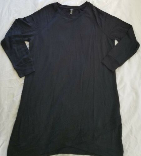 Active Life Womens Modal Tunic Dress With Crossover Hem Asst Colors MSRP $89.00