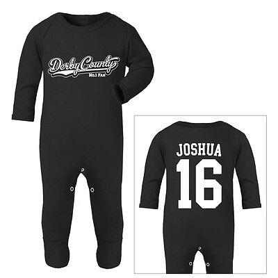NOTTS COUNTY Football Personalised Baby Sleep Suit