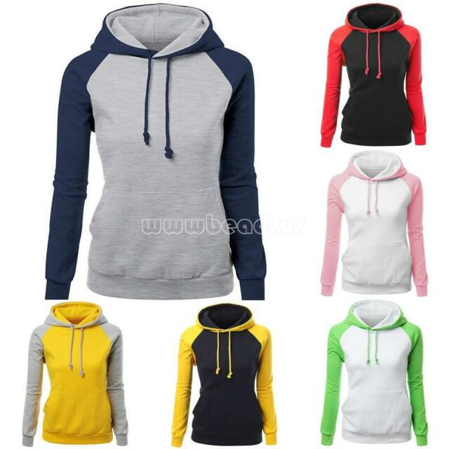 Women Long Sleeve Hoodie Sweatshirt Jumper Sweater Pullover Tops Coat Autumn
