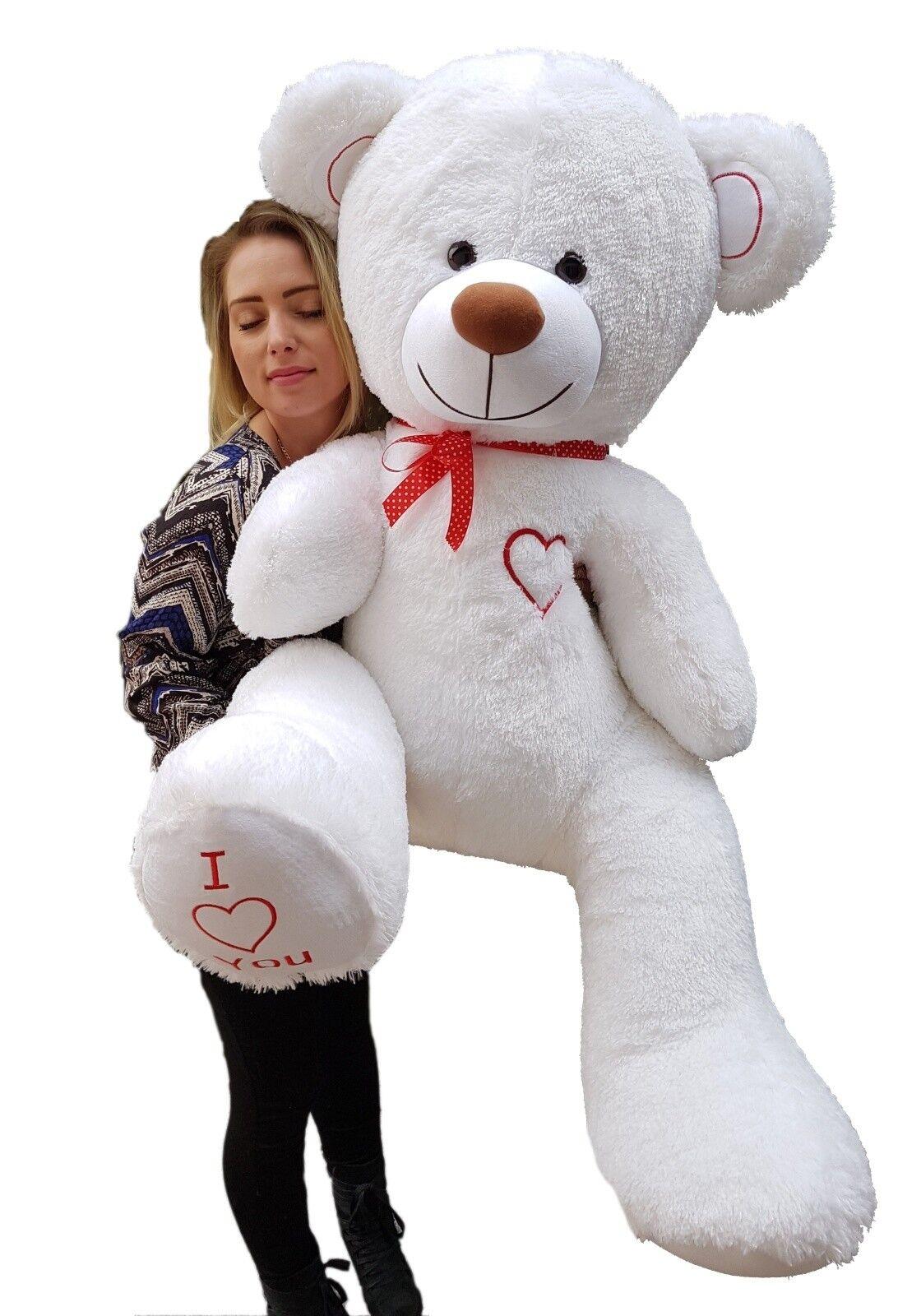 ORSETTO 160 cm Orso Teddy XXL Giant viaggi PELUCHE CUORE PELUCHE molti Coloreeei