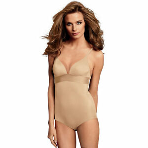 22b1ce7fd15 Maidenform DM1008 Endlessly Smooth Plunge Bodybriefer 38b Latte Lift ...