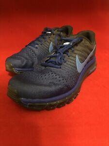Nike Air Max 2017 mens Sneakers shoes deep blue with grey