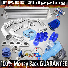 SS Manifold+BLUE T3/T4 Turbo+38mm ADJ. Wastegate for 93-01 Prelude H22A1/ H22A4