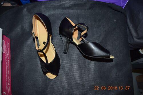 Paillettes Noir 409 Salle de Bal//Danse Latine Chaussures-Taille UK 2.5