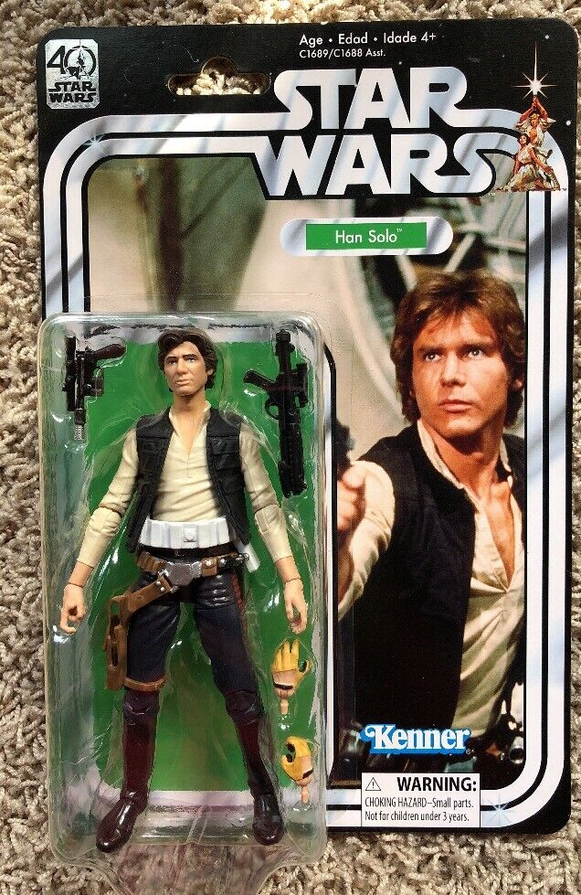 Star Wars 40 Years Han Solo Solo Solo Kenner Action Figure 7d0c18