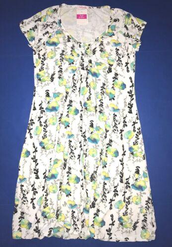 FRESH PRODUCE 1X White EMMA FLORAL VINES Stretch Knit Dress $79.00 NWT New 1X