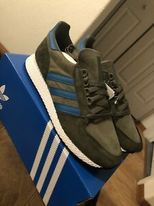 NEW-adidas-Originals-Forest-Grove-Shoes-Men-039-s-raw-khaki-active-teal-size-10-5
