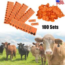 100 Sets Number Animal Livestock Multi Ear Tag Sheep Goat Cattle Cow Pig Label