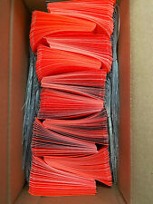 1000 Fluorescent Red Shipping Tags 2 18 X 4 14 Wired
