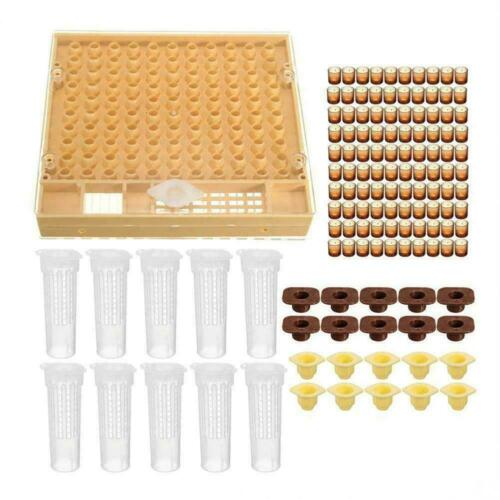131pcs Bee Queen Rearing Cupkit Box System Beekeeping Kit Cell Cup Cage I8A1
