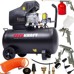 Kompressor Mit Zubehör : druckluftkompressor 50l pneukraft kompressor mit 13 tlg ~ Watch28wear.com Haus und Dekorationen
